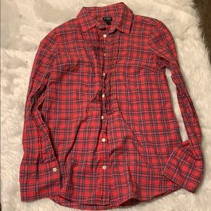 J. crew women's plaid shirt Red